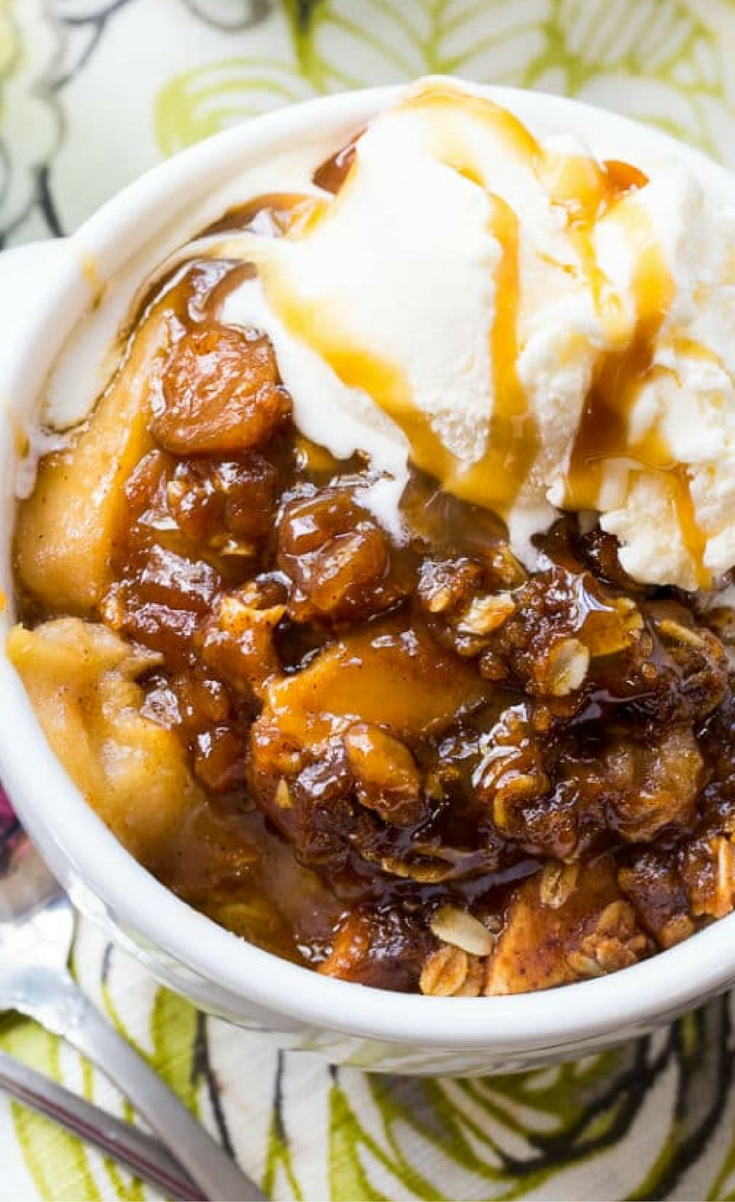Crock Pot Butterscotch Apple Crisp is a delicious fall dessert cooked totally in a slow cooker. The butterscotch flavor makes this apple dessert irresistible and it comes from a box of cook-and-serve Butterscotch pudding mix. The combination of fresh apples with a chewy, buttery mixture of oats, brown sugar, and fall spices is so, so good.
