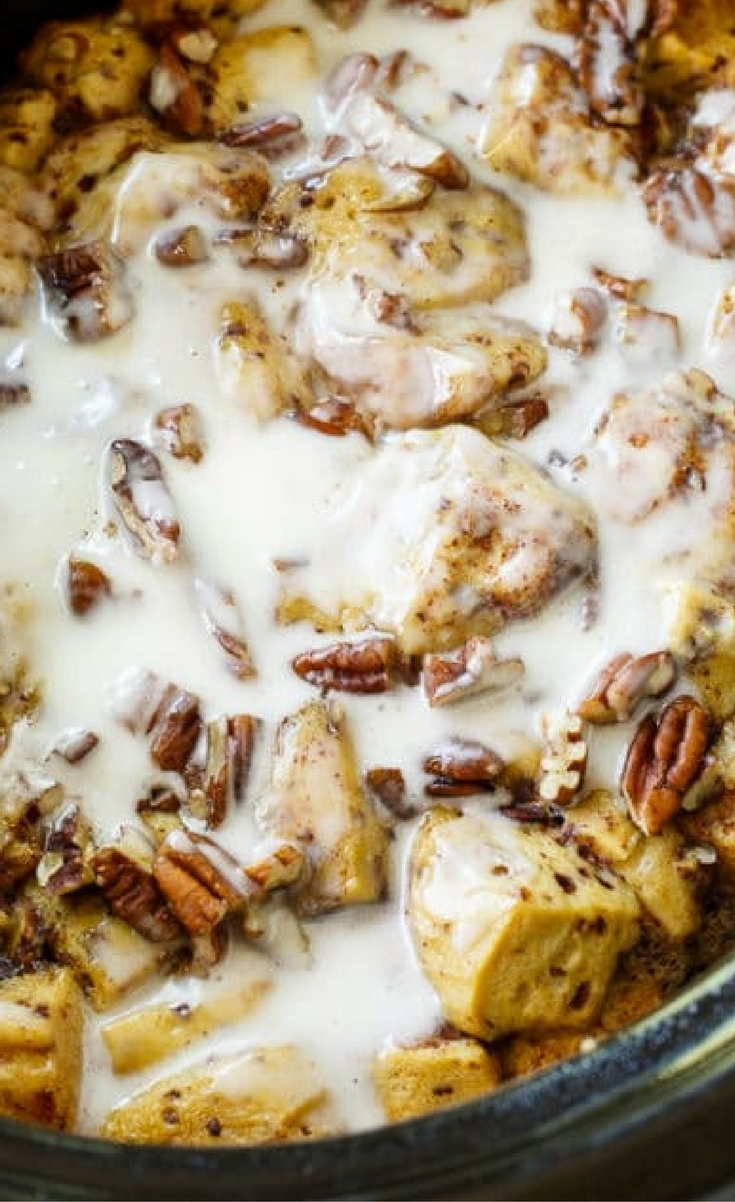 Say hello to Crock Pot Cinnamon Roll Casserole. AKA the most delicious way to eat cinnamon rolls ever.