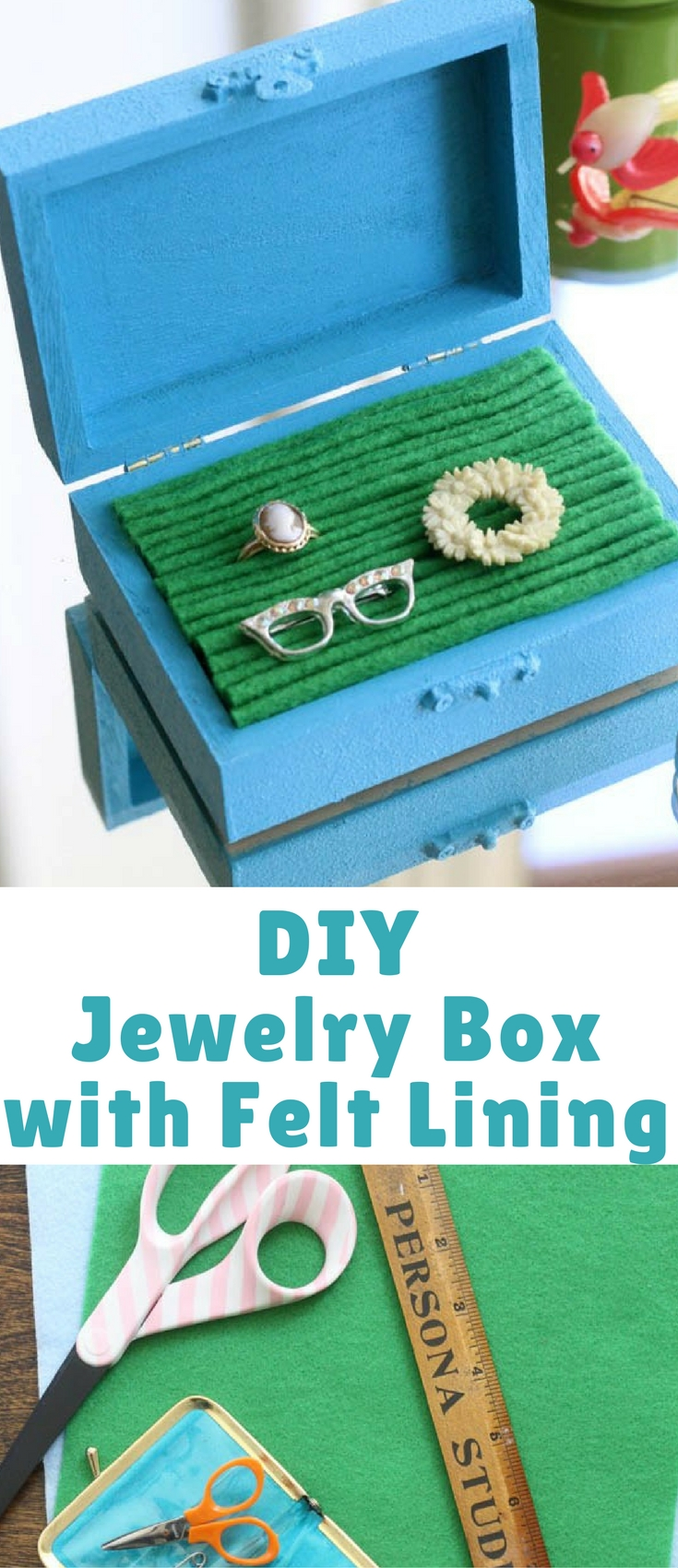 DIY Jewelry Box with Felt Lining - Blogger Bests