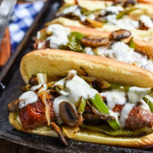 Philly Cheese Brats