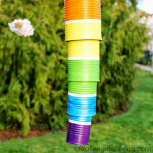 How to Make Rainbow Wind Chimes from Recycled Cans