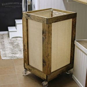 Vintage Rolling Laundry Cart