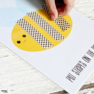 Adorable Washi Paper Tape Busy Bag – Free Printables