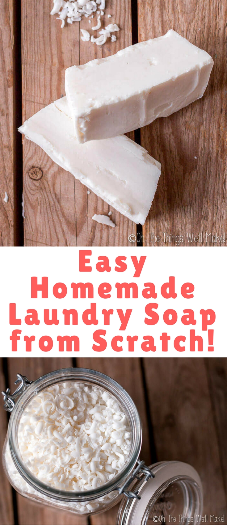 Even if you've never made soap before, you can quickly whip up this easy homemade laundry soap from scratch. It's perfect for beginners!
