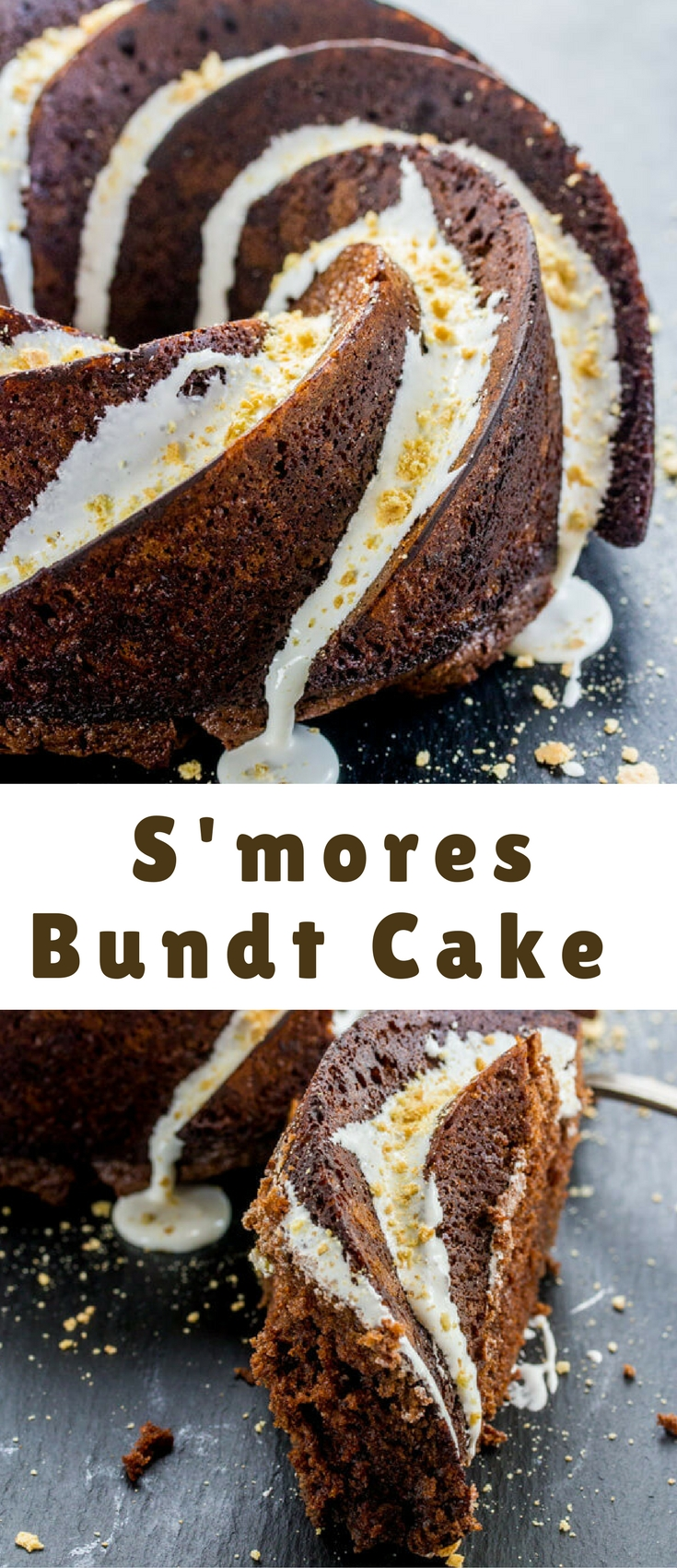 The classic campfire treat turns into a cake with this S'mores Bundt Cake. A fun and delicious treat to enjoy while putting a spin on a traditional fave.