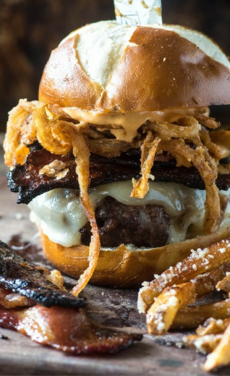 As far as the burger goes, it definitely is a little more labor-intensive than your classic American burger of cheese, lettuce, tomato, onion, pickles and condiments, but the extra effort has a huge payoff.