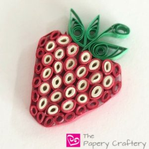 How to Make Quilling Paper Strawberries