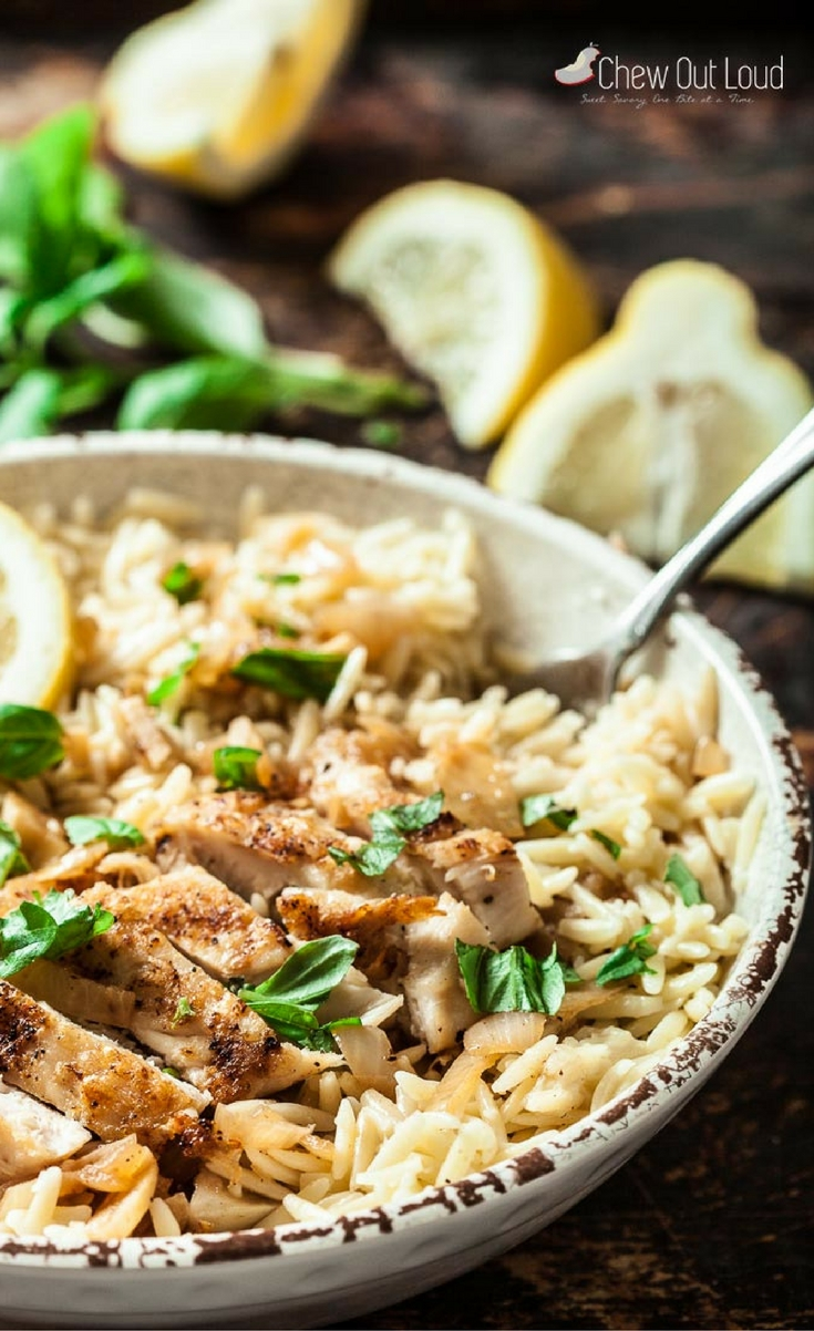 This Lemon Basil Orzo with Chicken is quick, easy, and absolutely scrumptious. It's the ultimate spring-summer dinner; light yet incredibly tasty. It's an instant hit you can count on.