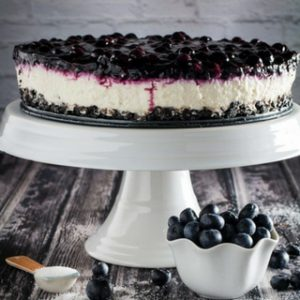 No Bake Cheesecake with Blueberry Topping