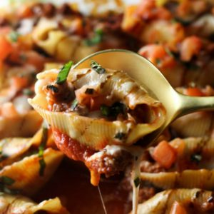 Sausage Caprese Stuffed Shells