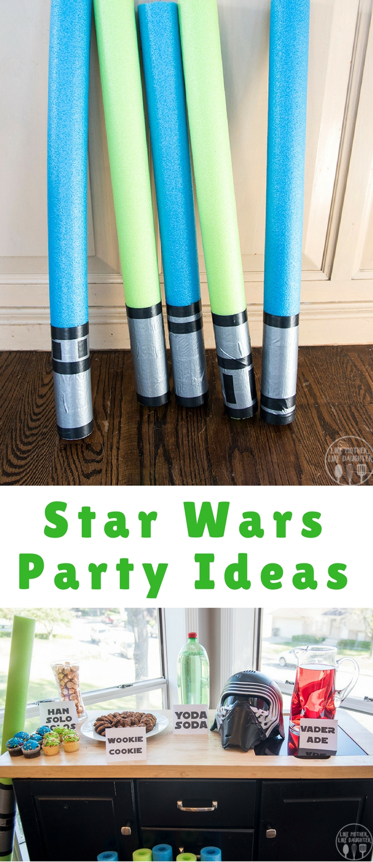 These fun Star Wars party ideas are perfect for someone who loves Star Wars, from fun treat ideas, to homemade light sabers, and more!