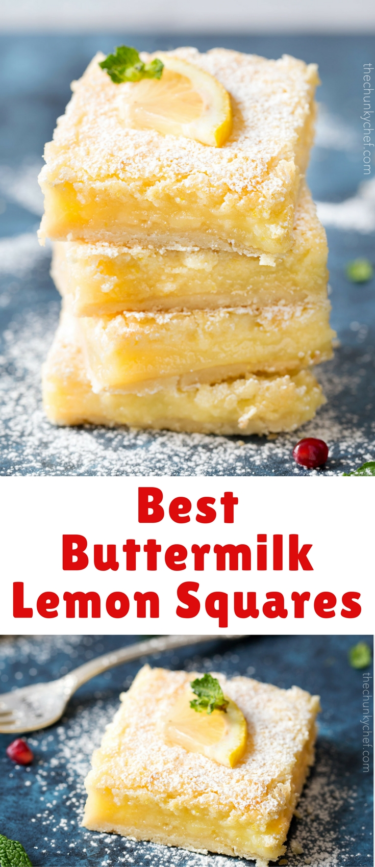 Bright, tangy, and creamy… these lemon squares are foolproof. A buttery crust is topped with a creamy lemon filling, for a light and easy dessert!