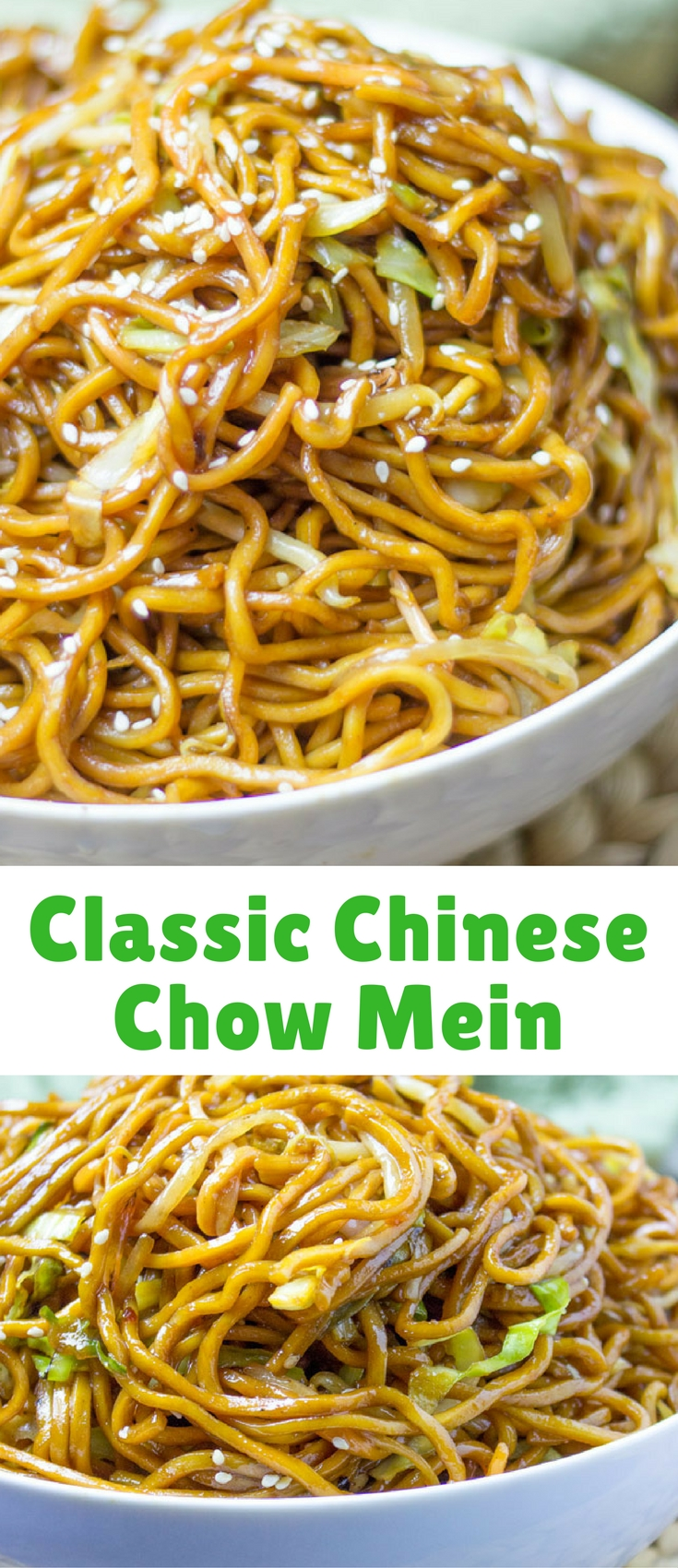 CLASSIC CHINESE CHOW MEIN WITH AUTHENTIC INGREDIENTS AND EASY INGREDIENT SWAPS TO MAKE THIS A PANTRY MEAL IN A PINCH! Read more at: Classic Chinese Chow Mein http://dinnerthendessert.com/classic-chinese-chow-mein/