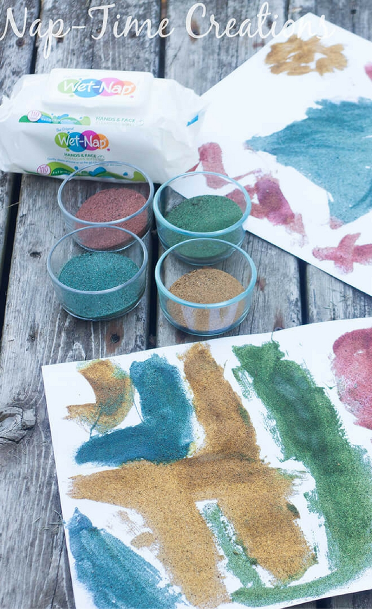 This quick tutorial will walk you through coloring sand and what we did with it.