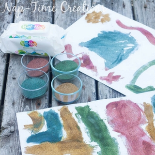 DIY Colored Sand Project – With Easy Clean Up!