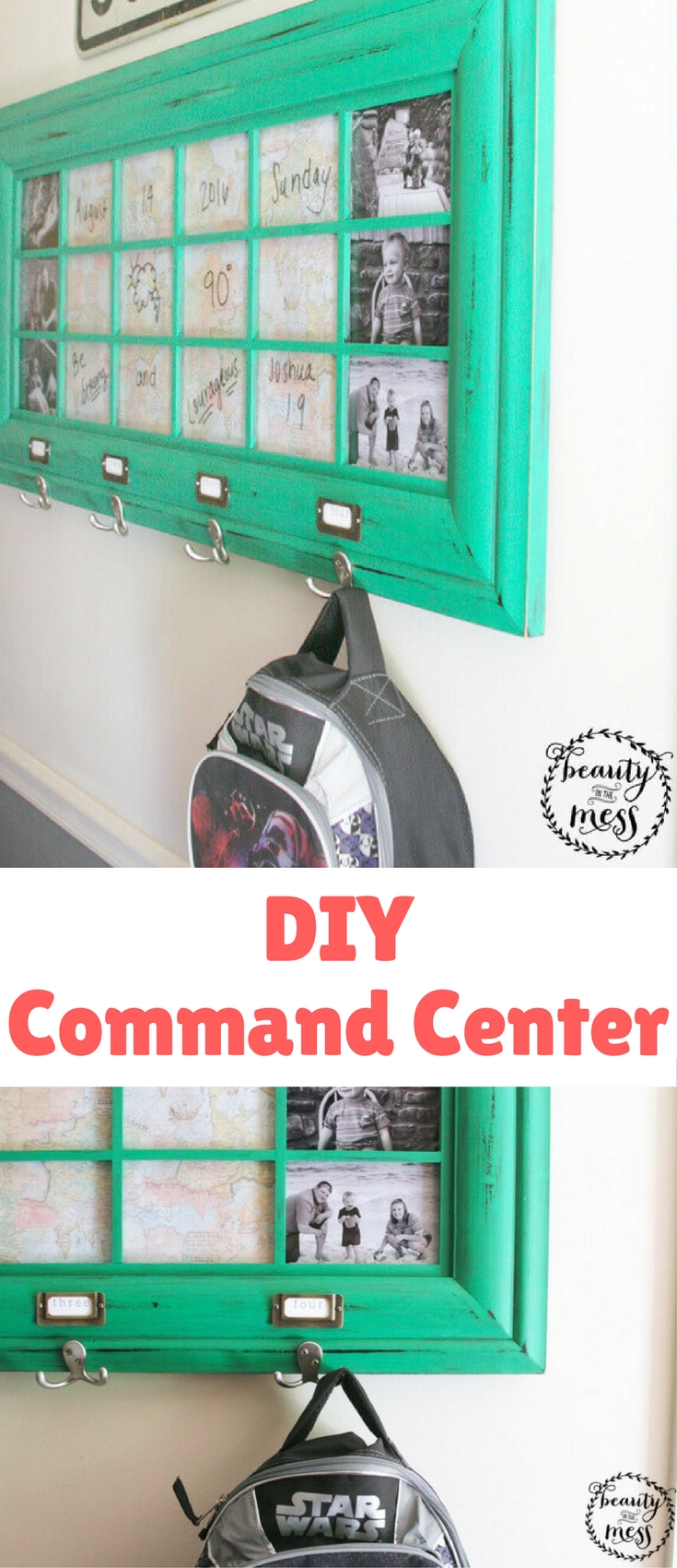 You can streamline the busy out-the-door rush with a simple DIY Command Center that can be finished in an afternoon.