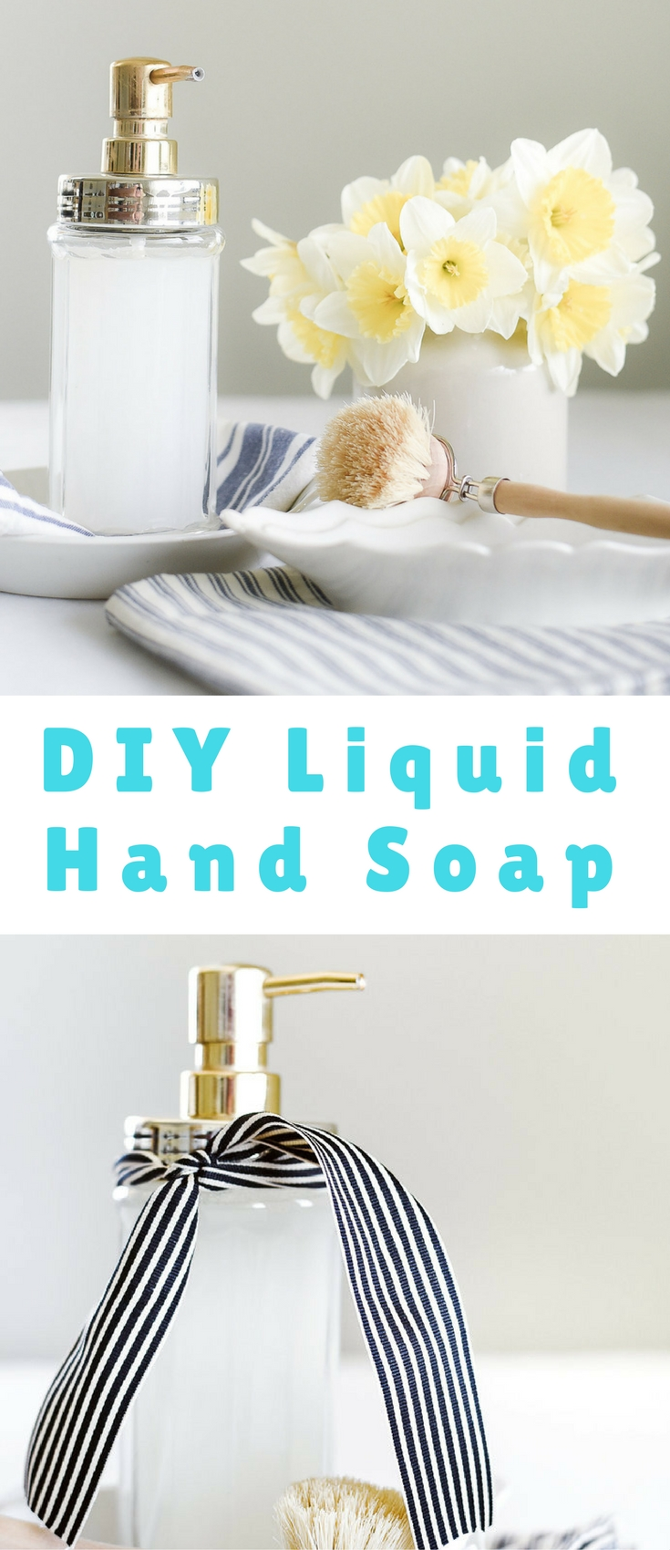 The magic of Castile soap and essential oils shouldn't be underestimated! This is the best DIY liquid hand soap I have found!