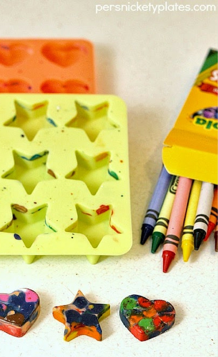DIY Shaped Crayons – recycle your old, broken crayons into fun new shapes!
