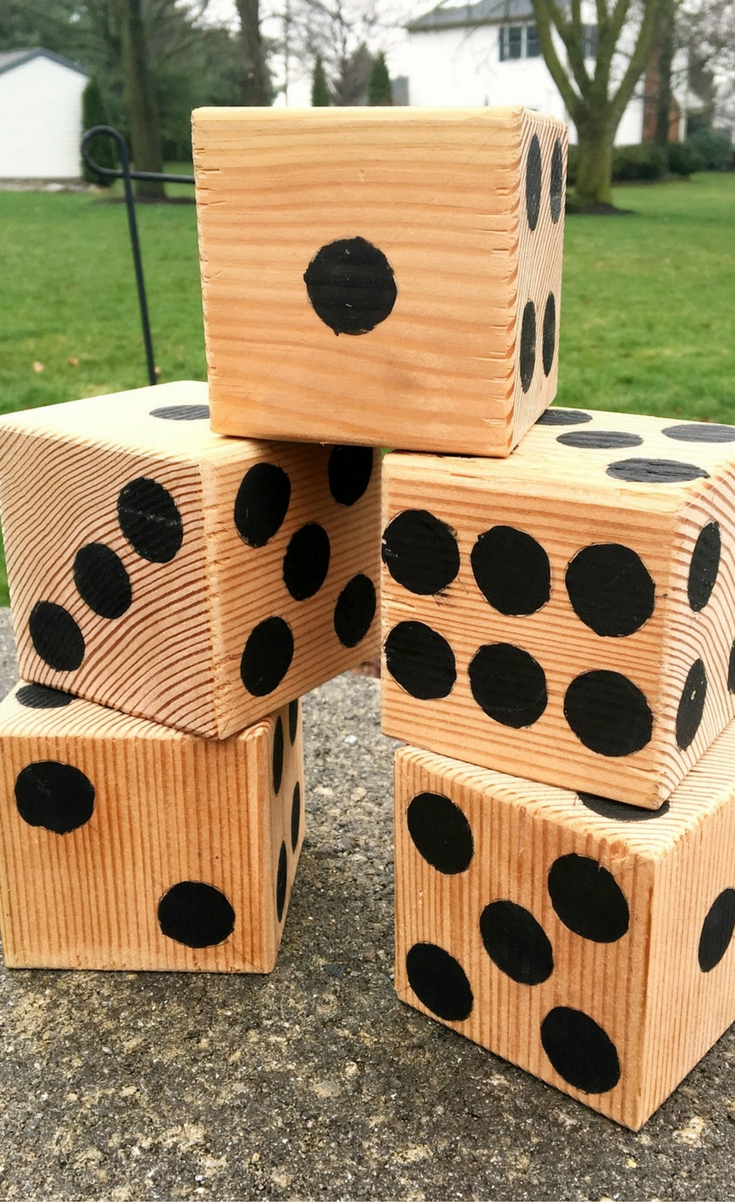 And you can get your own kids and the whole family to have just as much fun with this DIY Yardzee Game! It's even fun to make it together!