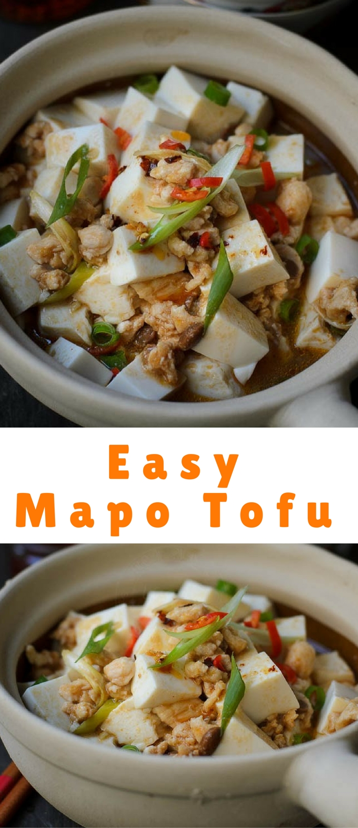 Hot and spicy beancurd or better known as Mapo Tofu.