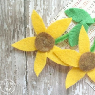 Felt Sunflower Craft for Kids