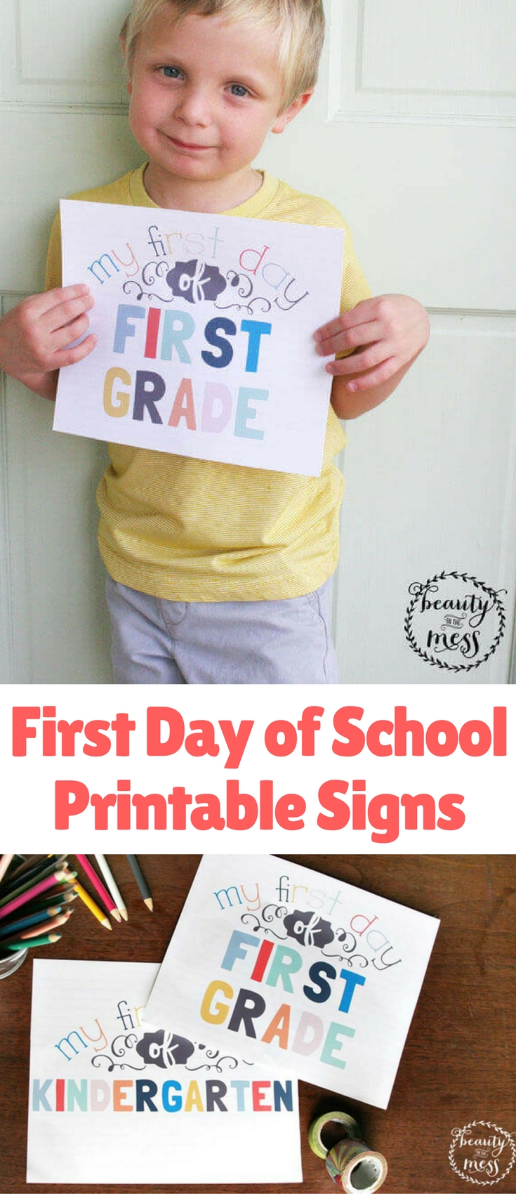 Back to school comes with a rush of preparation, but I hope that these free First Day of School printable signs will make one task simpler.