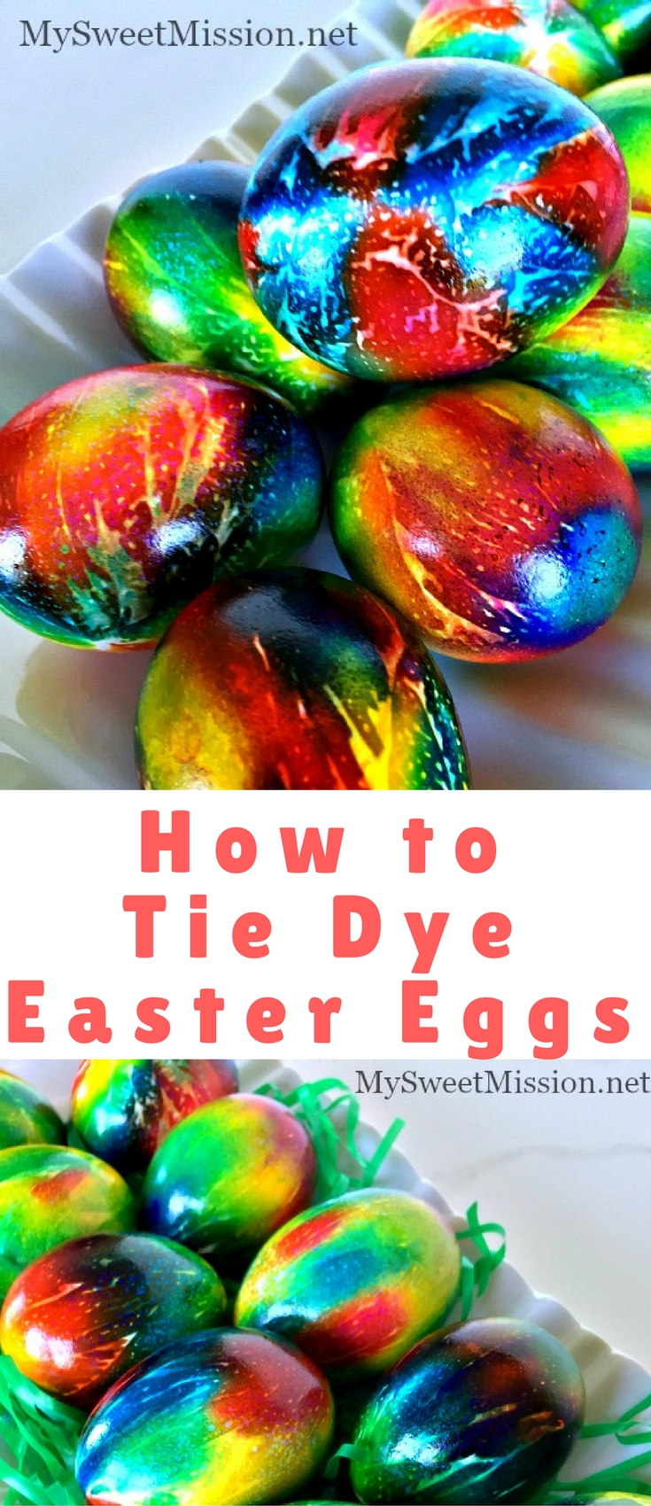 Say good-bye to dull, boring, washed-out Easter eggs, because we are showing you an awesome technique on How to Tie Dye Easter Eggs.
