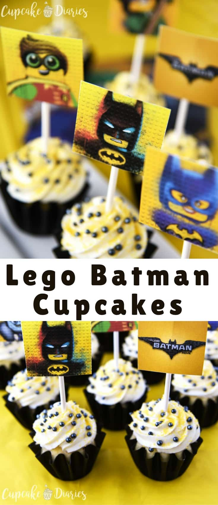 photo regarding Batman Cupcake Toppers Printable identified as Lego Batman Cupcakes with Cost-free Printable Toppers - Blogger Bests