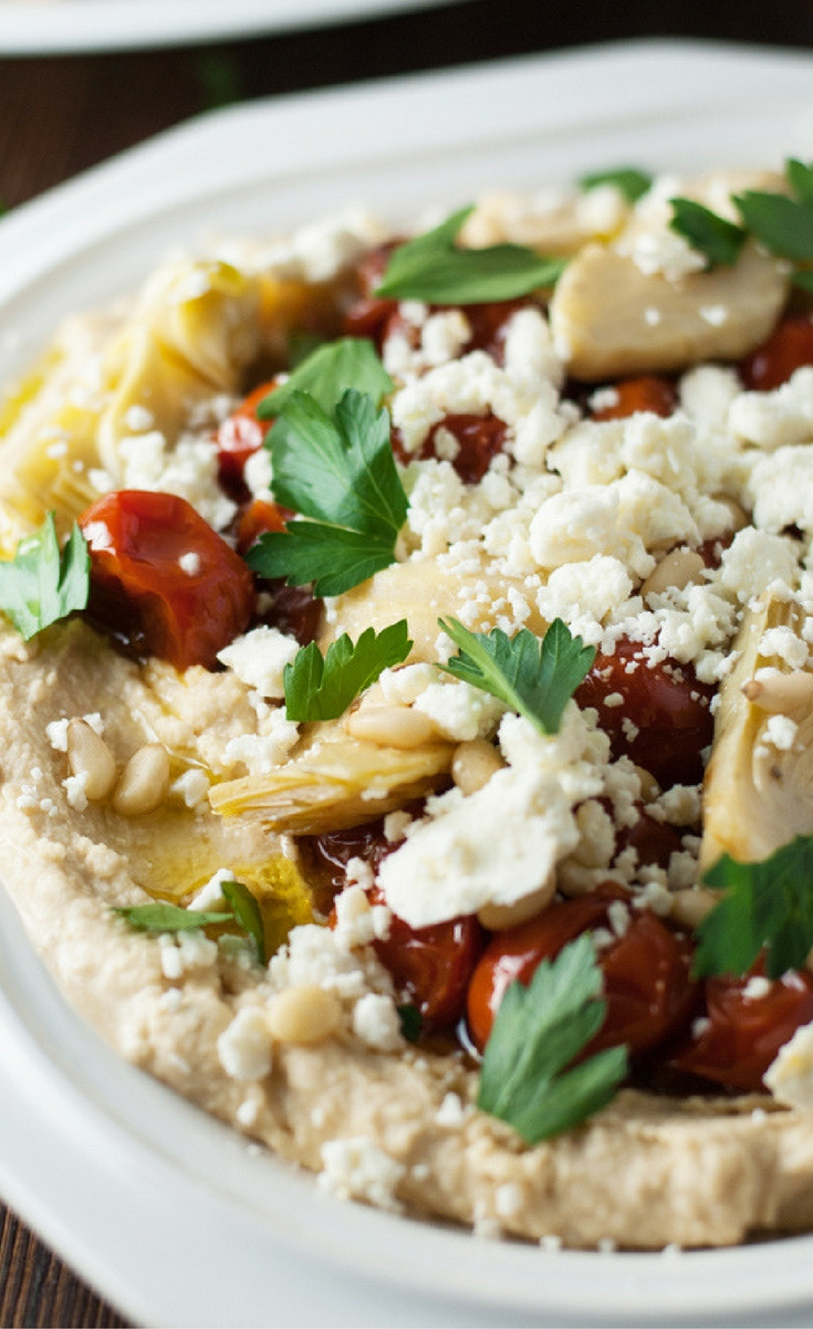 This Loaded Hummus is hearty enough to be a quick and easy dinner!