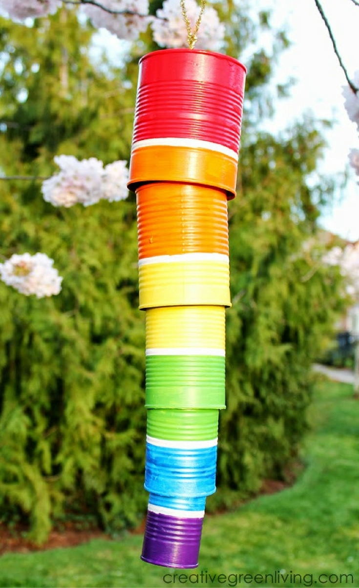 Wind chimes are fun projects to make with kids and a fun way to decorate your porch or garden.