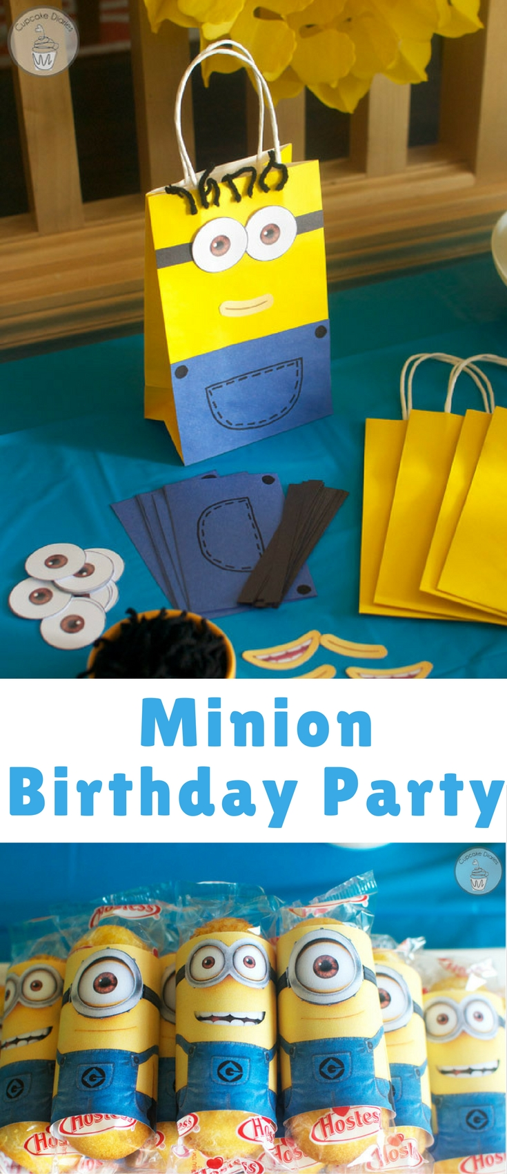 My son turned five this year and got to have his very first friend party. He was so excited and immediately requested a minion theme for his party. And perfect timing with the movie Minions coming out next month! Minions are pretty much the best.