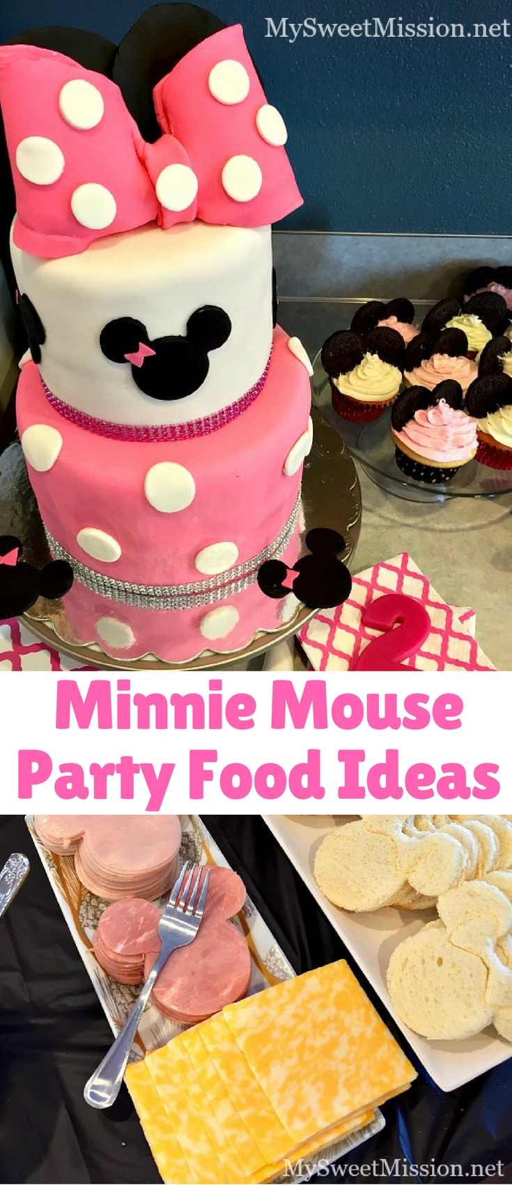 These delicious and adorable Minnie Mouse Party Food Ideas are sure to put a smile on every Mouseketeer's face!