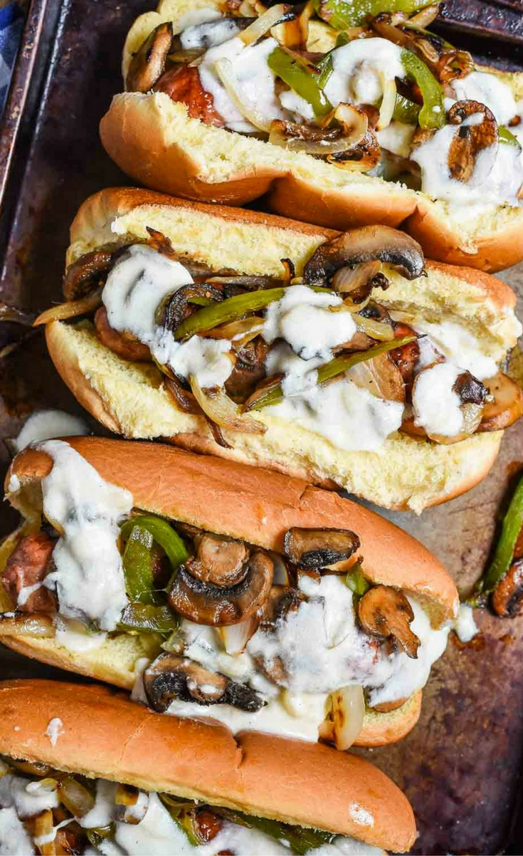 Philly Cheese Brats bring your favorite Philly sandwich to the grill!
