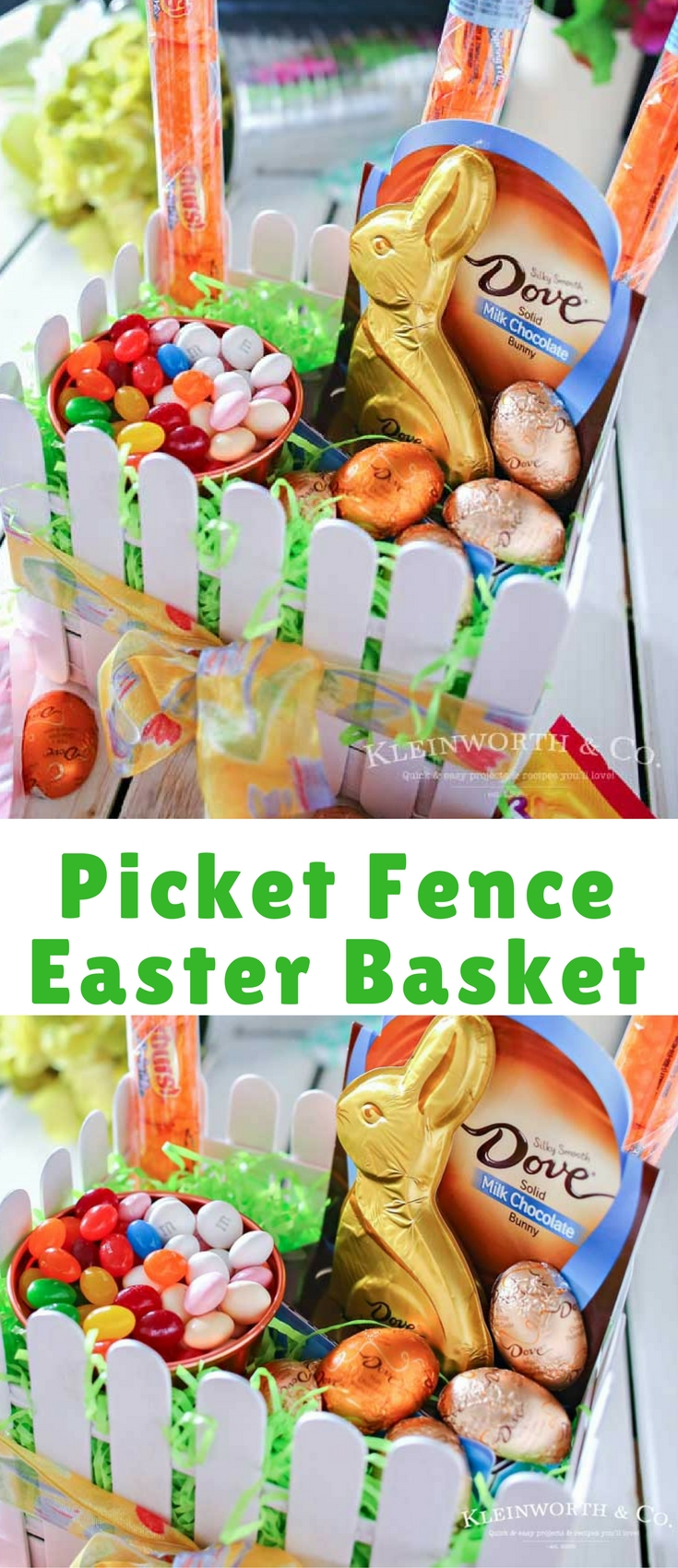 This adorable Picket Fence Easter Basket is easy to make with this step-by-step tutorial using tongue depressors or popsicle sticks. Load it full of your favorite Easter candy & you know everyone will love it.