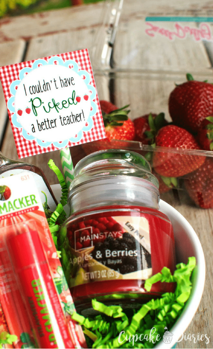 Every teacher deserves a thank you at the end of the school year. This Strawberry Teacher Gift is a fun (and yummy) way to do just that!
