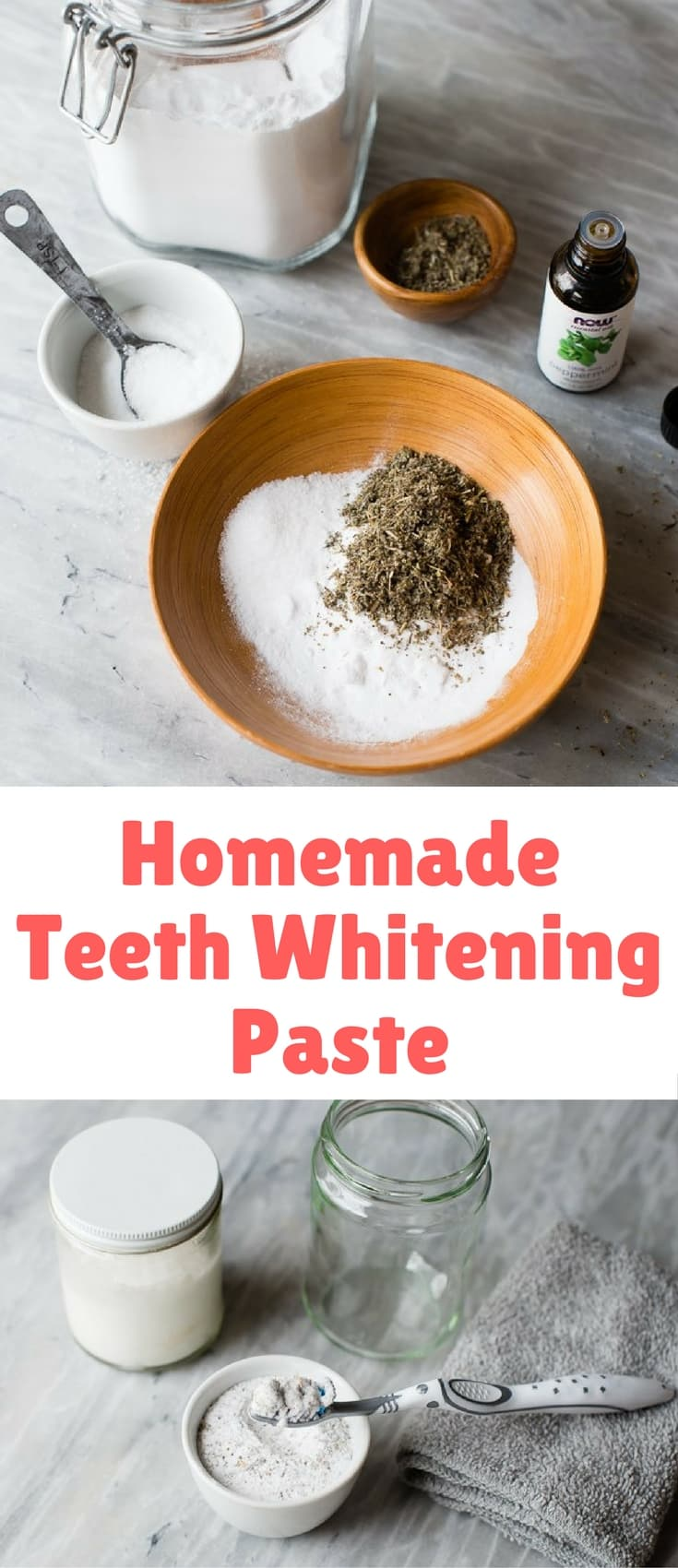 I love making my own natural toothpaste, so I decided to try adding some hydrogen peroxide for more natural teeth whitening benefits. I love it! The hydrogen peroxide paste kills two birds with one stone and works great, too.