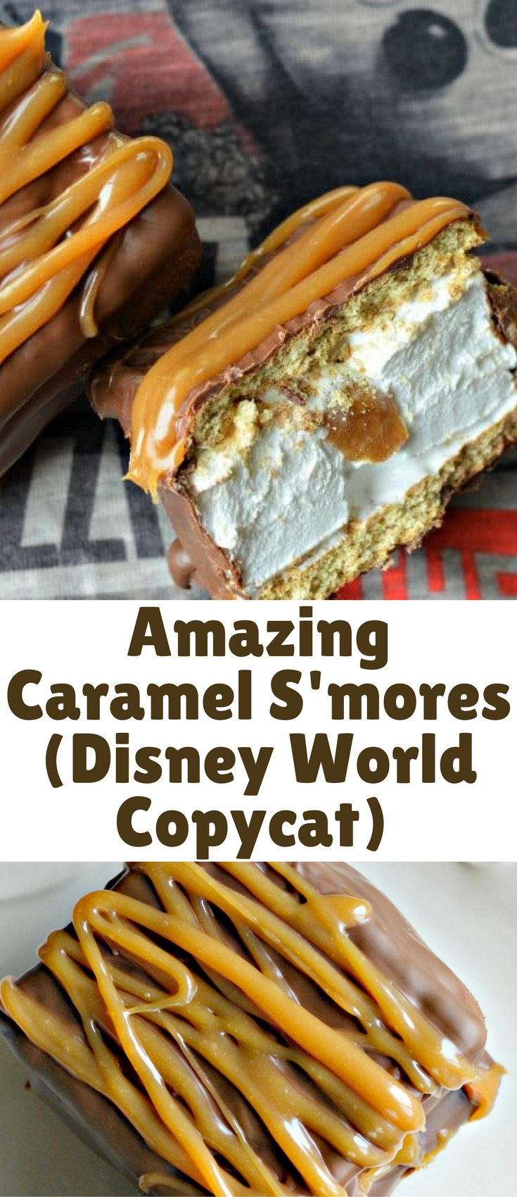 These Caramel S'mores have it all – chocolate, caramel, marshmallow, and graham crackers. Although I definitely recommend the real version that you can get at Karamell-Küche at Epcot in Disney World, if you can't make it soon, you should definitely try these!