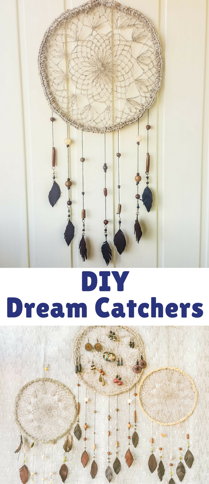 Hang your DIY dream catcher in a nice place and admire! I also made two smaller ones to create a matching set.