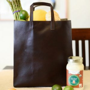 DIY Faux Leather Market Tote