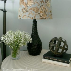DIY Lampshade Re-do was SUPER EASY and FUN