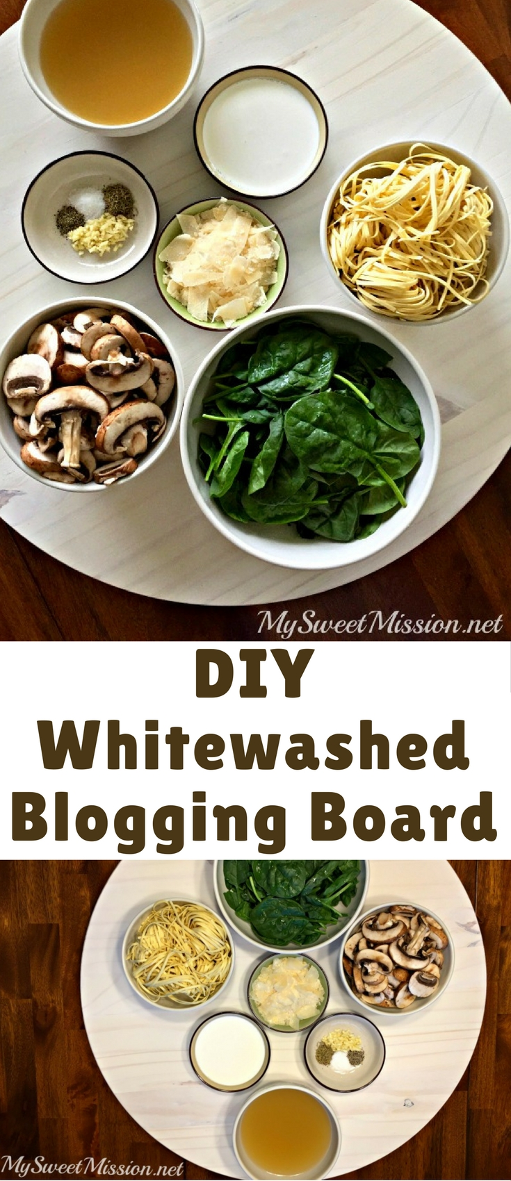 I am so excited to share this beautiful DIY Whitewashed Blogging Board Tutorial with you and all my blogging friends!