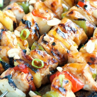 Kung Pao Chicken Skewers