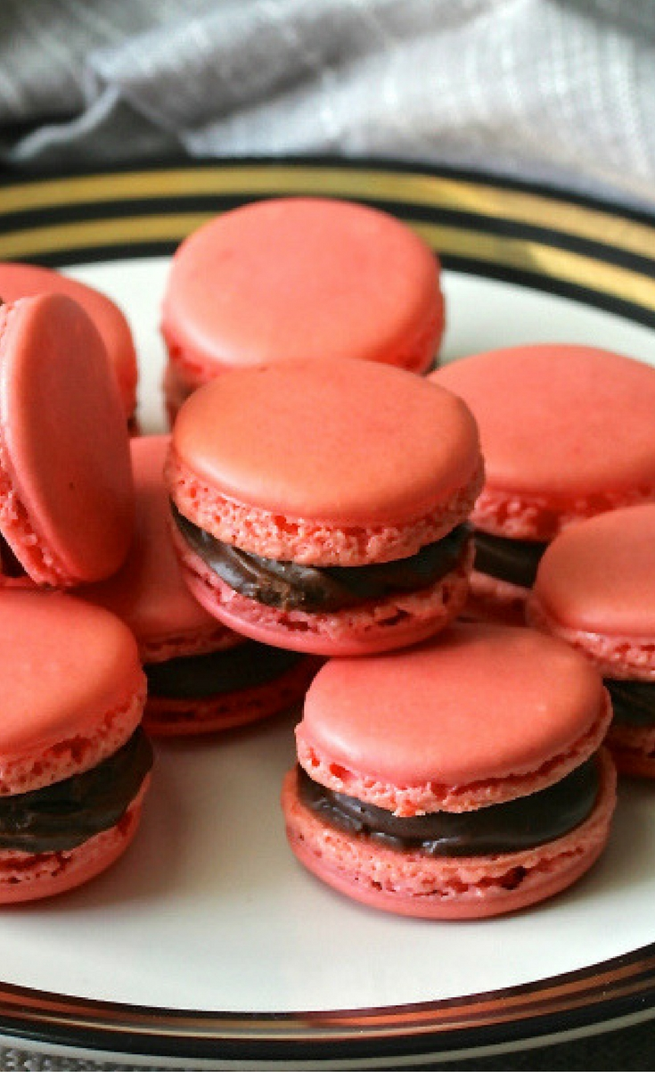 These Macarons with a Chocolate Buttercream Filling are so gorgeous, pretty much fail-proof, and delicious!