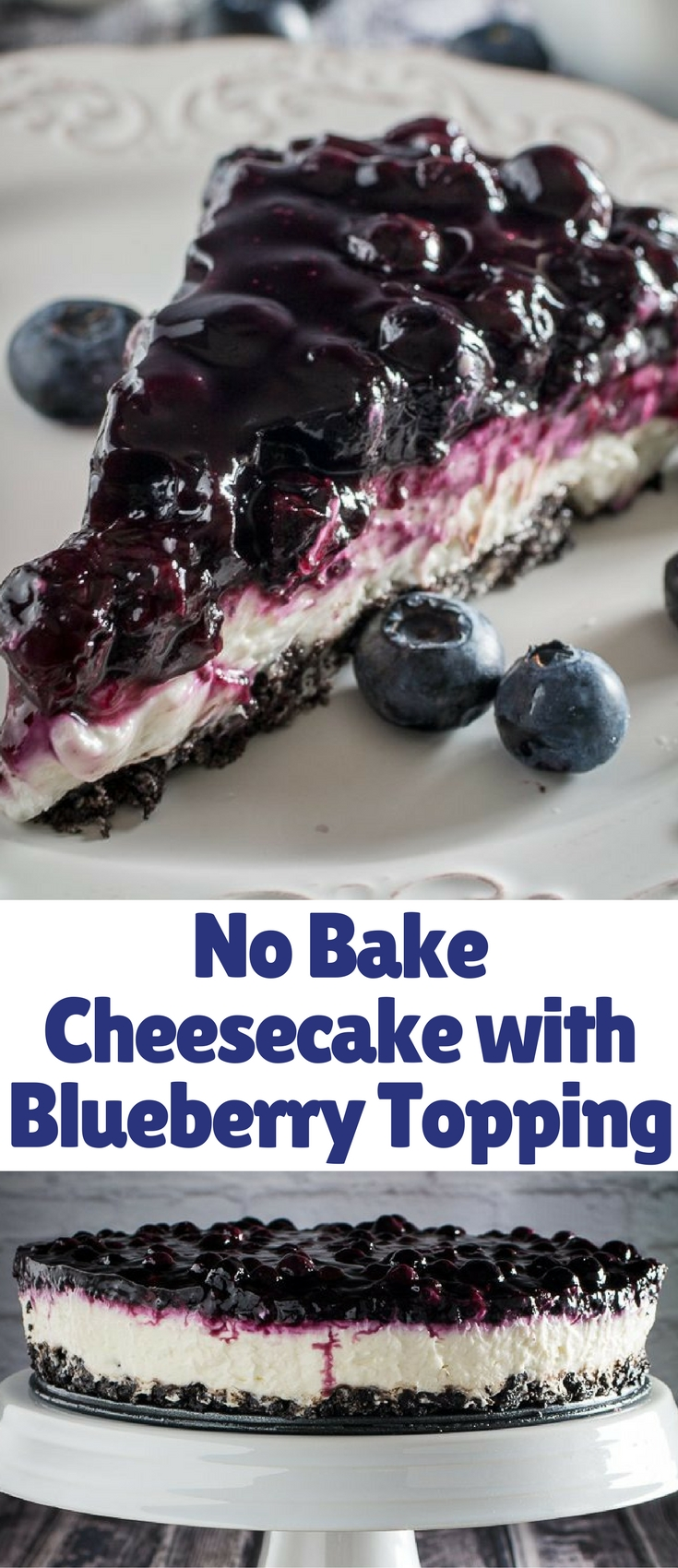 This deliciously creamy no bake dessert is perfect for summer days when it's just too hot to cook, but you still want something sweet to eat!