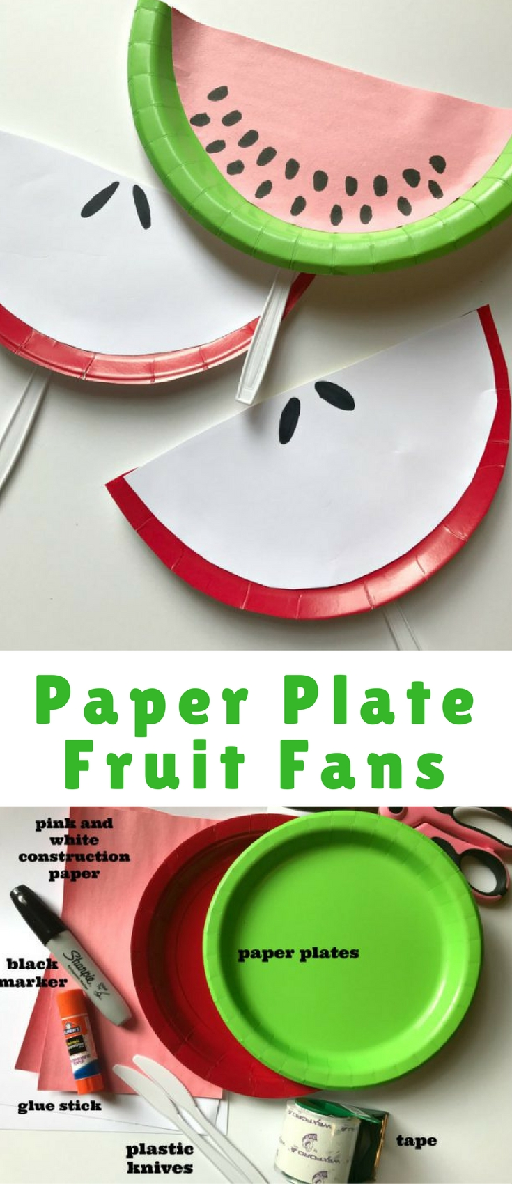 Dig into your craft box and get ready for this easy kid approved summer craft!  sc 1 st  Blogger Bests & Make These Adorable Fruit Slice Paper Plate Fans - Blogger Bests