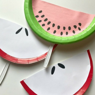 Make These Adorable Fruit Slice Paper Plate Fans