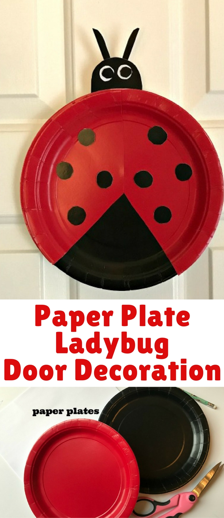 This simple paper plate ladybug craft if perfect for even the tiniest crafters!