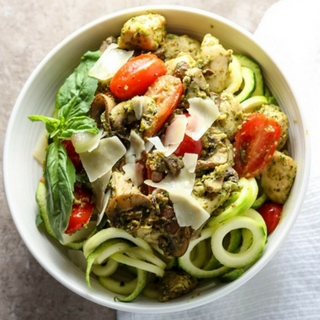 Pesto Zoodle Bowl with Chicken