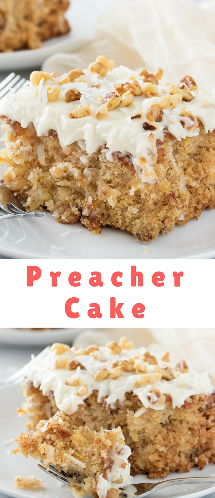 This light, moist, and tropical preacher cake is the easiest dessert ever! You mix it together with a wooden spoon, in one bowl... no mixer needed!