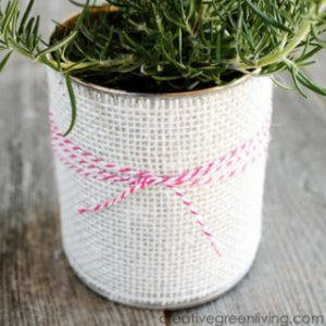 How to Turn a Can into a Giftable Planter